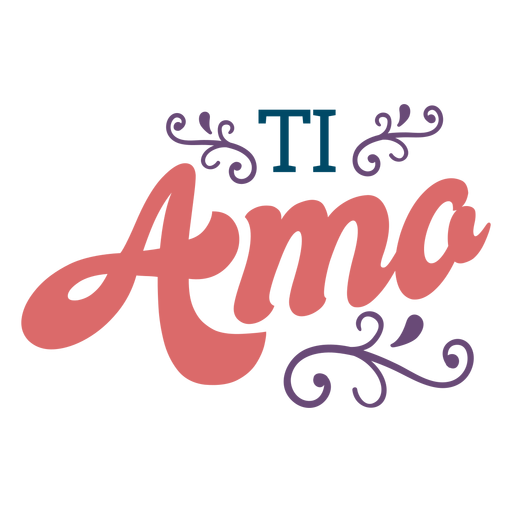 Letras ti amo Transparent PNG