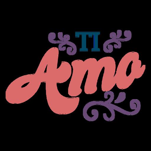 Ti amo lettering Transparent PNG