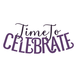 Time to celebrate lettering