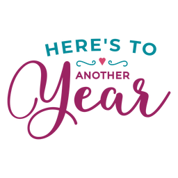 To another year lettering