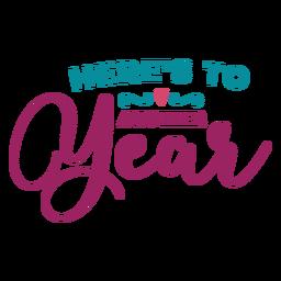 Zu einem anderen Jahr Schriftzug