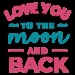 A la luna y letras de espalda.