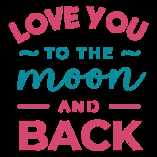Para a lua e letras de volta Transparent PNG