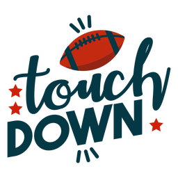 Touch down lettering
