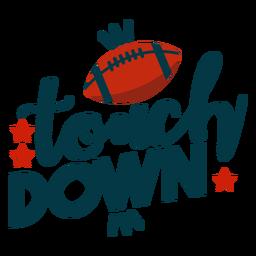 Touchdown-Beschriftung