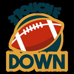 Touchdown-Schriftzug