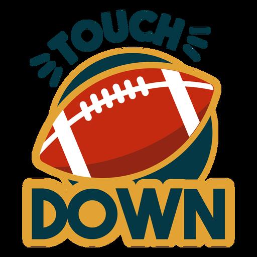 Touchdown lettering