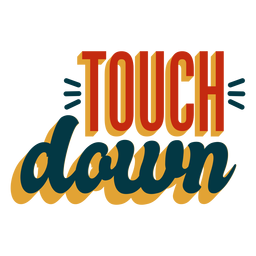 Touchdown lettering badge