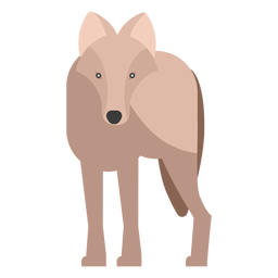 Lobo vista frontal plana