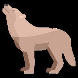 Wolf heult flach
