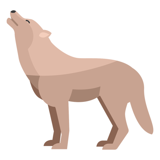 Wolf howling flat Transparent PNG