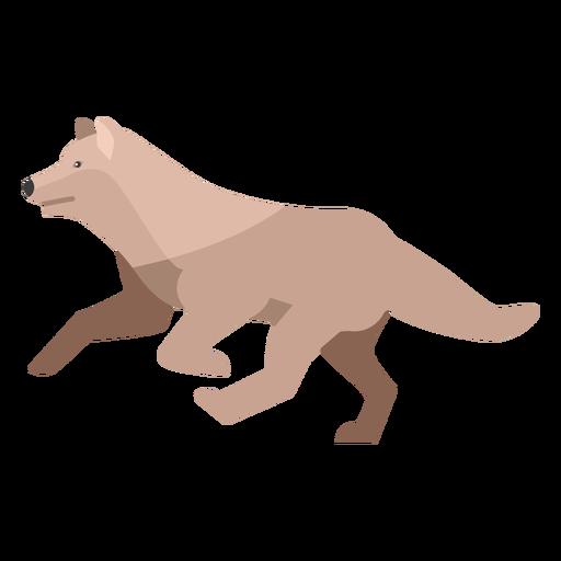 Wolf running flat Transparent PNG