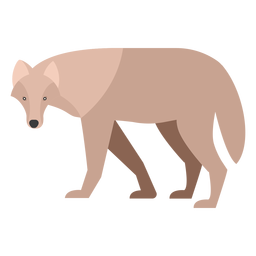 Wolf side view flat