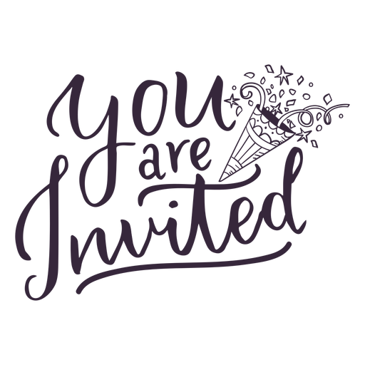 You are invited lettering Transparent PNG