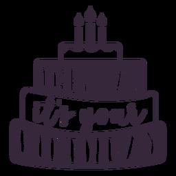 Sua rotulação de bolo de aniversário