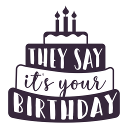 Your birthday cake lettering