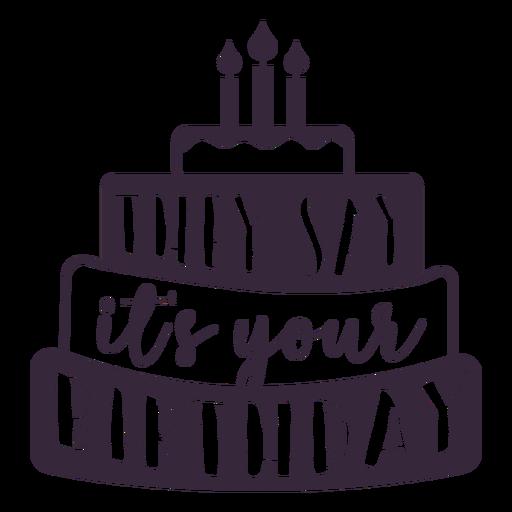 Letras de tu pastel de cumpleaños. Transparent PNG