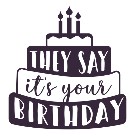 Your birthday cake lettering Transparent PNG