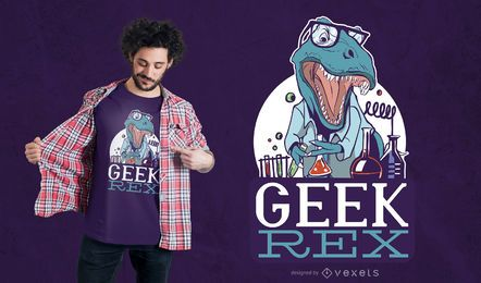 Geek T-Rex Design de Camiseta