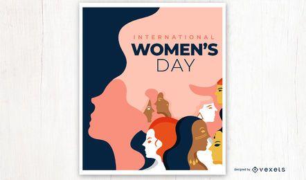 Internationales Frauentagsplakat
