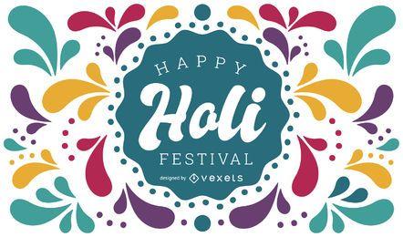 Glückliches Holi Festival Design