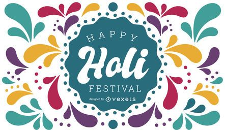 Happy Holi Festival Design
