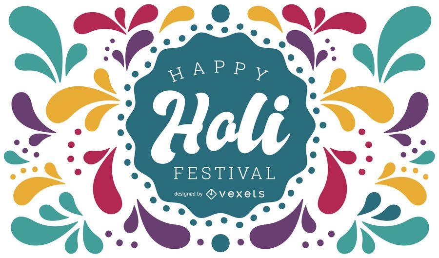 Feliz Holi Festival Design