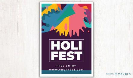 Diseño de carteles de Holi Fest
