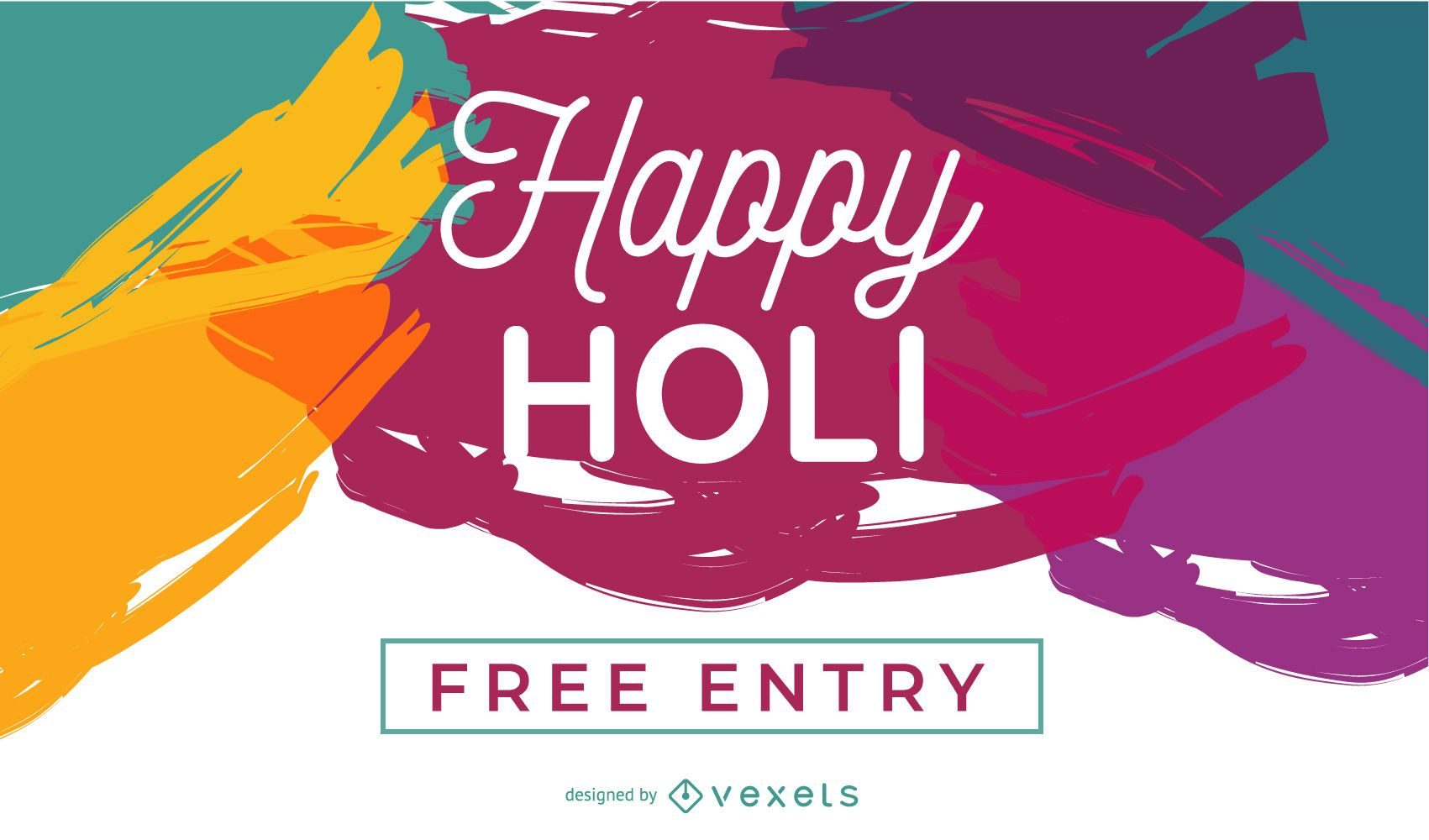 Happy Holi Poster Design