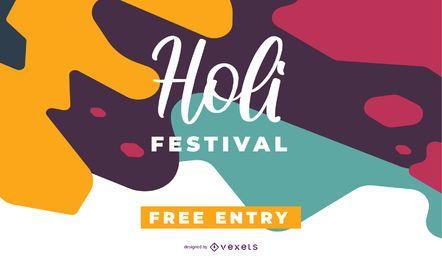 Diseño colorido del festival Holi