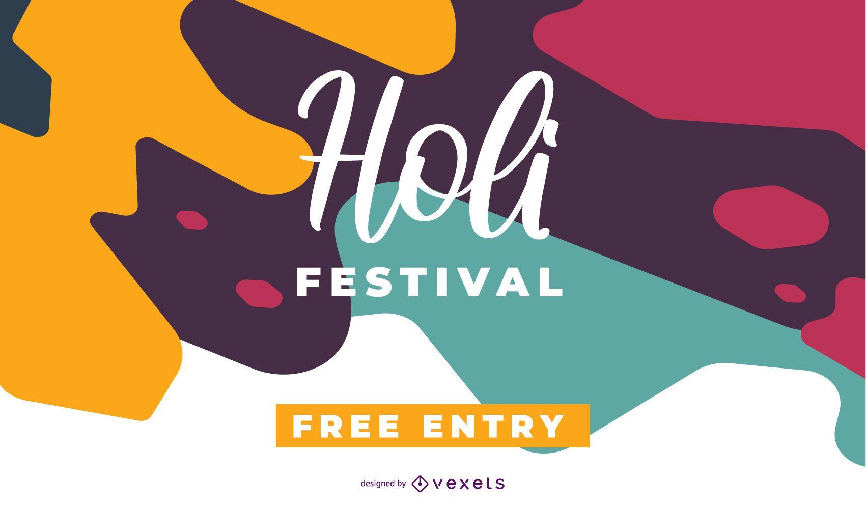 Colorful Holi Festival Design