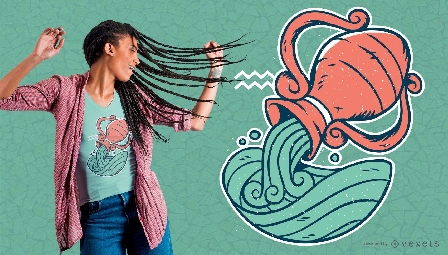 Aquarius T-shirt Design