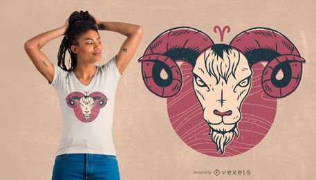 Design do t-shirt do zodíaco do Aries