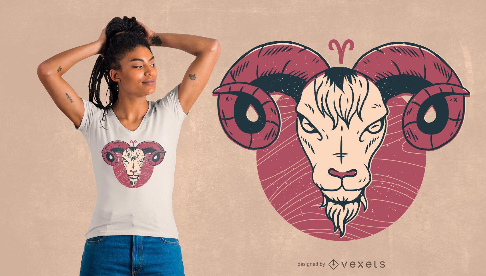 Widder Sternzeichen T-Shirt Design