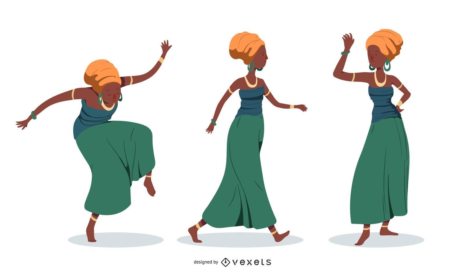 Afrobeat Woman Set - Vector download