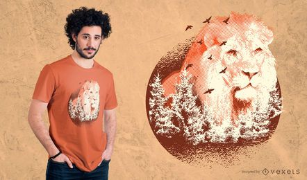 Diseño de camiseta Forest Lion
