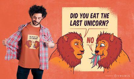 Design engraçado do t-shirt dos leões