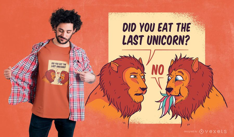 Funny Lions T-Shirt Design