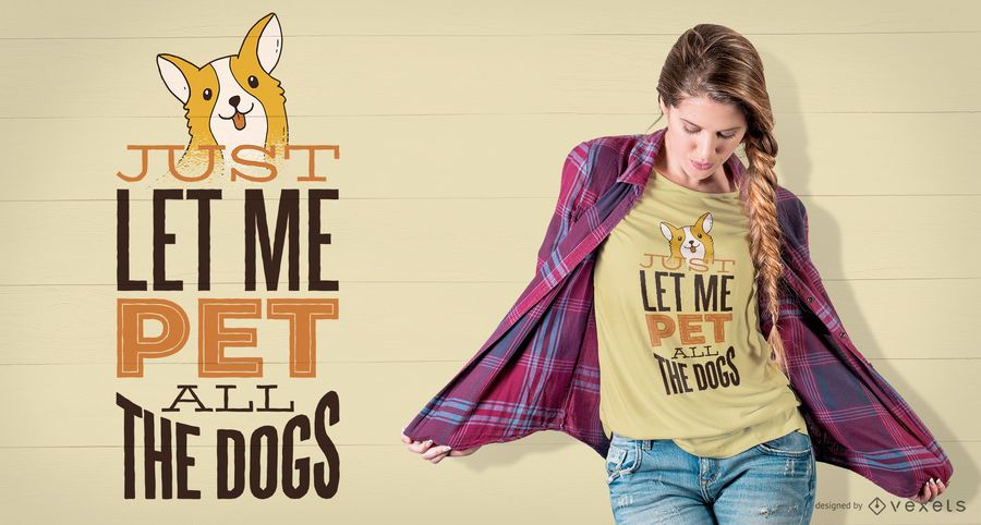 Diseño de camiseta de mascotas de todos los perros