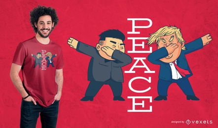 Diseño de camiseta Trump Peace