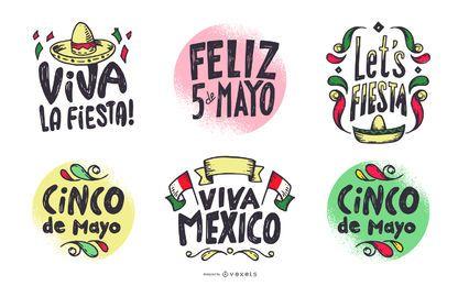 Conjunto De Letras De Cinco De Mayo