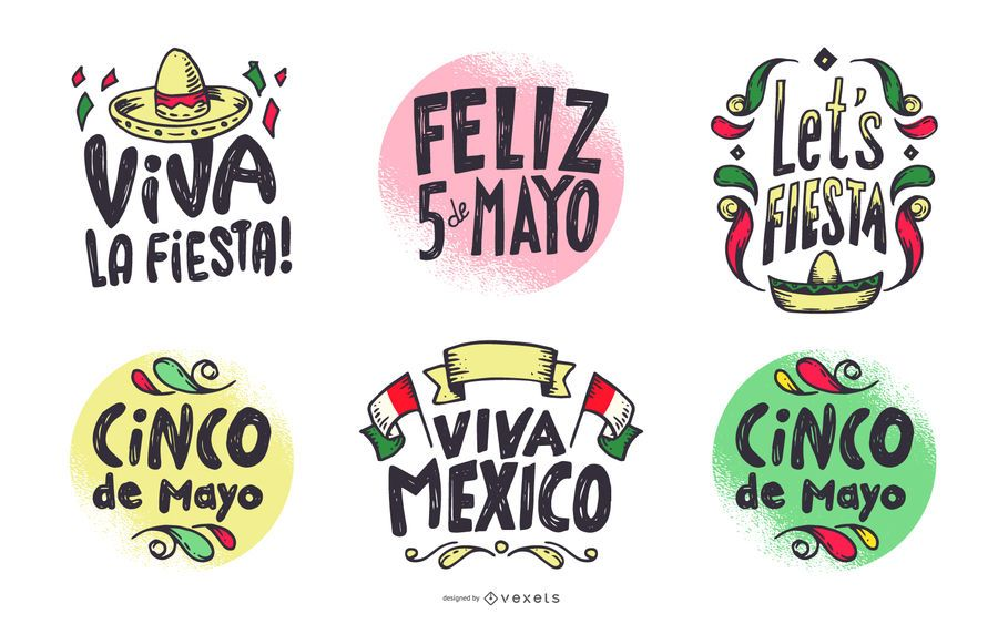 Cinco de Mayo Lettering Set