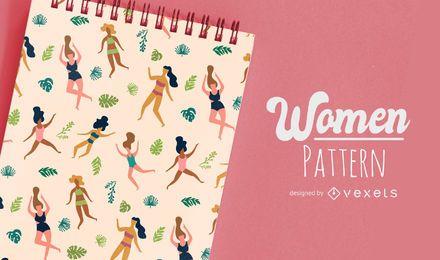 Design de padrão de mulheres plana