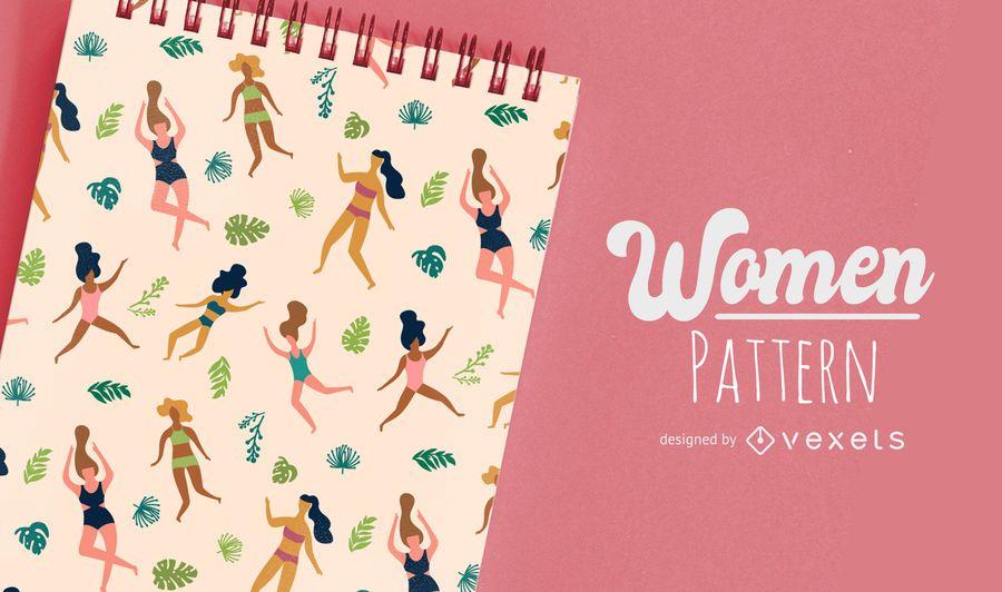 Flaches Frauen-Muster-Design
