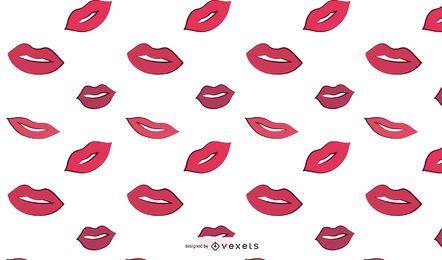 Frau Lippen Muster