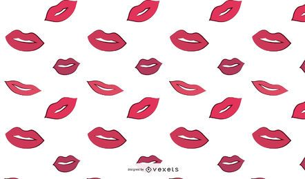 Woman Lips Pattern Design