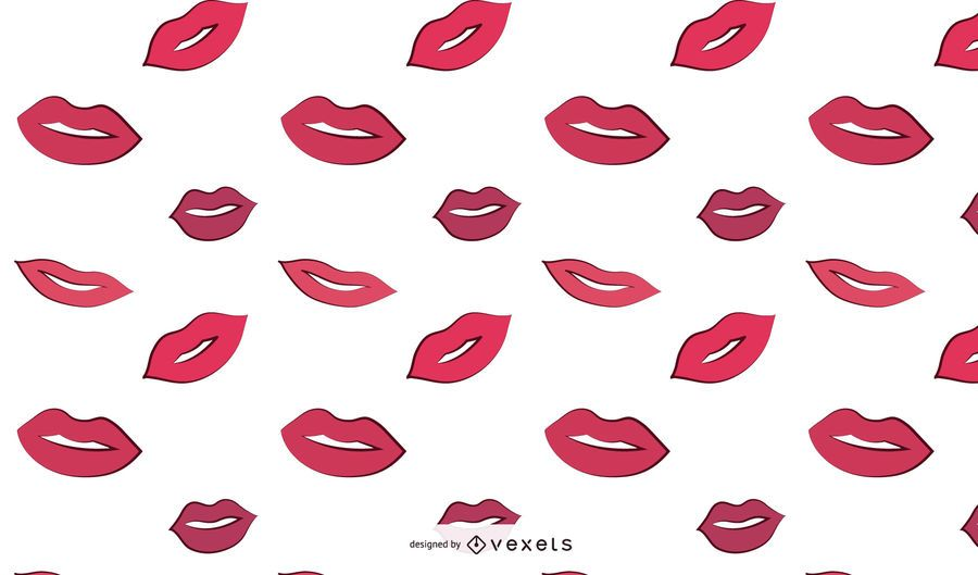 Woman Lips Pattern Design