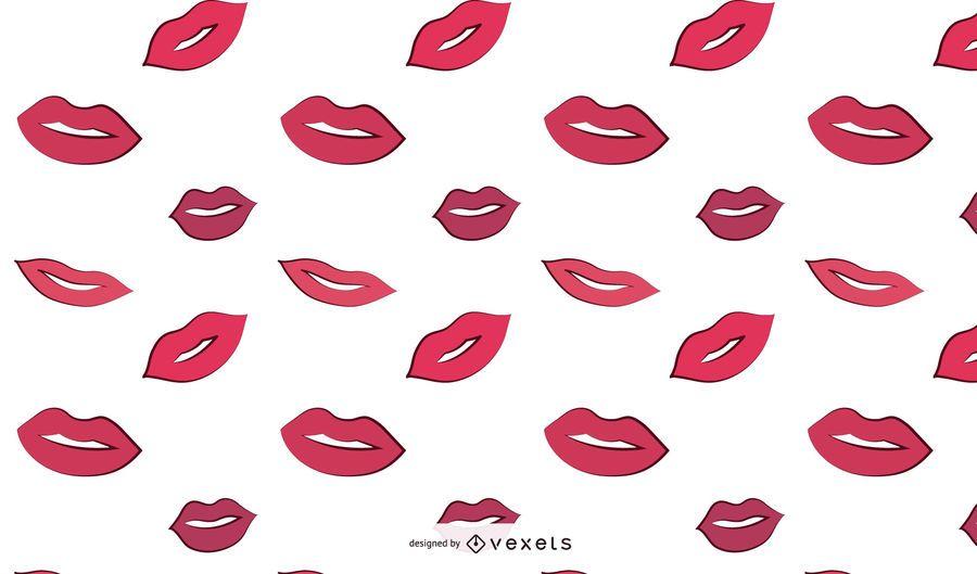 Woman Lips Pattern