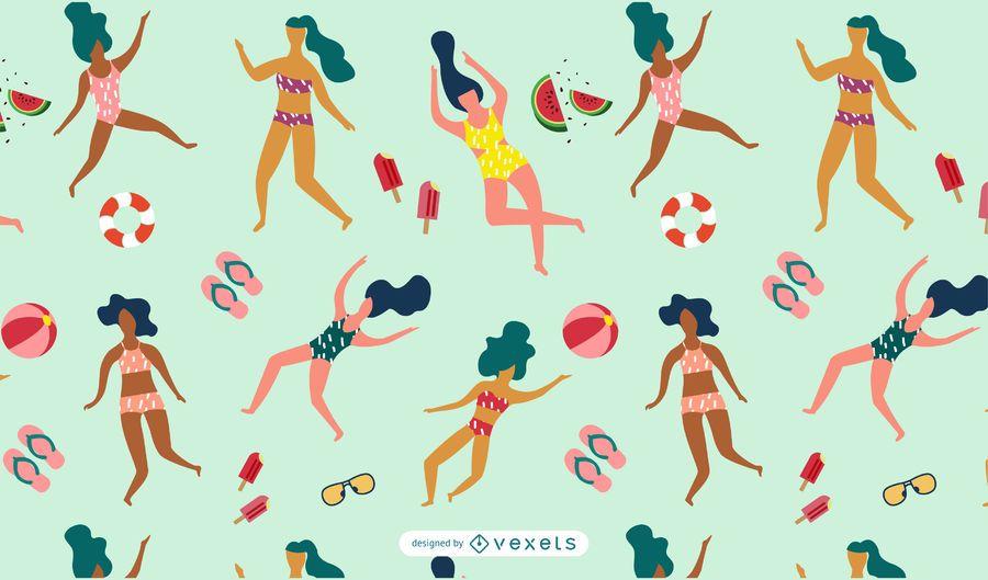 Padrão de mulheres de verão