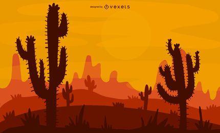 Diseño de ilustración del desierto